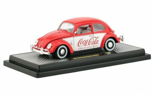 M2 Machines 1:24 Coca-Cola 1952 Volkswagen Beetle Deluxe Diecast Car 50300-RW04