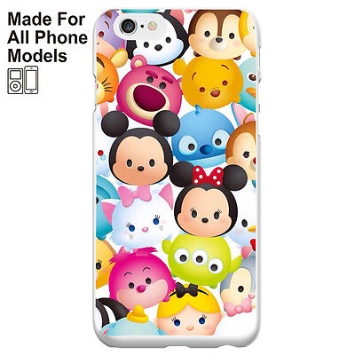 Disney Tsum Tsum phone Case for iPhone 8 8+ X 7 Plus Galaxy S7 S8 S8+ Note 8 P11