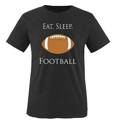 Comedy Shirts - EAT. SLEEP. FOOTBALL - Kinder T-Shirt - Gr. 86/92-152/164 Versch
