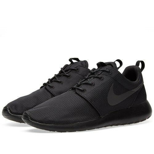f71e5ccea33c Men Nike Roshe Run One Triple Black 511881-026 OUT Rosherun Running SIZE 6-