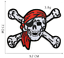 miniature 2 - PIRATE SKULL Embroidered Biker Patches Skeleton Iron / Sew on Badges Grim Reaper