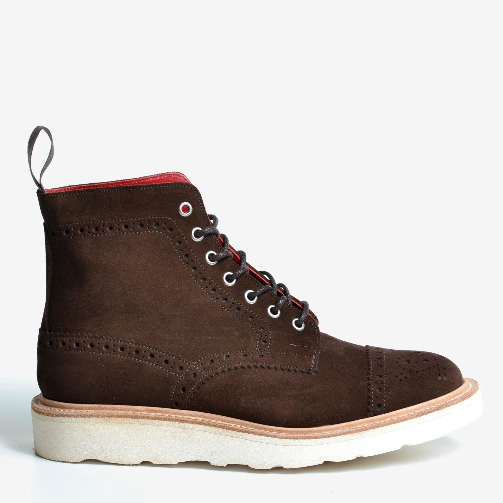 TRICKER's X Junya waranabe Man nos 9 Chocolate repello Top Cap Brogue botas
