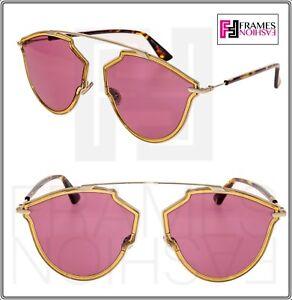 95c1f9f7f0fd CHRISTIAN DIOR SO REAL Rise Gold Yellow Pink Aviator Sunglasses ...