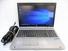 HP 8560  LAPTOP WINDOWS 10 PRO 64BT i5 2.3GHz 8GB RAM WiFi DVDRW NOTEBOOK 250 HD