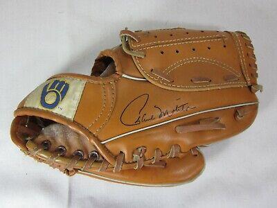 EntrüCkung Great Milwaukee Brewers Ball Und Handschuh Logo Paul Molitor Werbegeschenk Einfach Zu Verwenden Weitere Ballsportarten