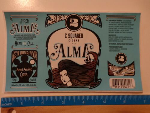 COLORADO Collectible Beer STICKER ~*~ C SQUARED Alma Dry Sweet CIDER ~*~ Denver