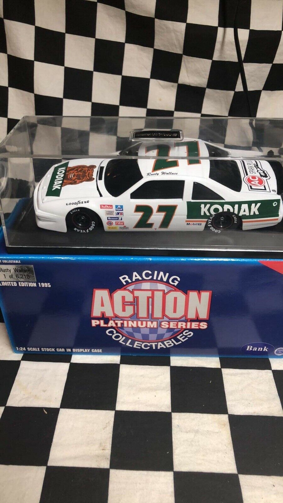 1989 Rusty Wallace Kodiak  27 Pontiac CWB 1 24 Jahr Wirkung NASCAR Diecast
