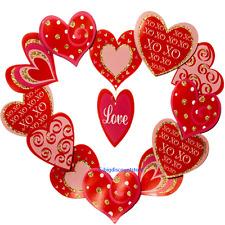 XO Valentine's Day Wedding mother Door Wreath Romantic Room Home Wall Decoration