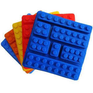 Food-grade-silicone-gateau-Moules-construction-briques-LEGO-Robot-plateaux-Baking-Moules