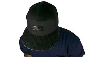 SP-7-panel-snapback-cap-pu-faux-cuir-plat-pic-Chapeaux-Baseball-Hiphop-Unisexe