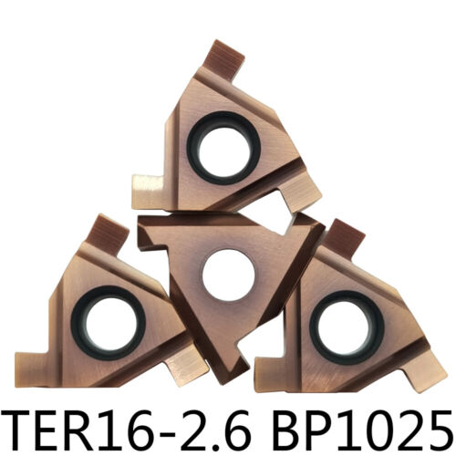 10pc TER16-2.6 BP1025 Carbide insert Paper-mounted Shallow groove cut-off insert