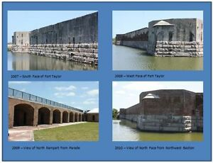 Postcards-of-Contemporary-Photographs-of-Fort-Zachary-Taylor-Set-2-of-3