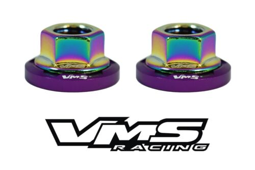6 VMS RACING STRUT TOWER DRESSUP PURPLE WASHERS /& NEOCHROME NUTS FOR NISSAN