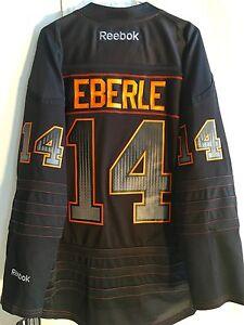 best sneakers 236ab c4b38 Details about Reebok Premier NHL Jersey EDMONTON OILERS Jordan Eberle Black  Accelerator sz XL
