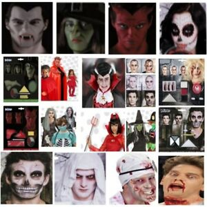Halloween Make Up Sets Teufel Zombie Hexe Vampir Skelett Dracula