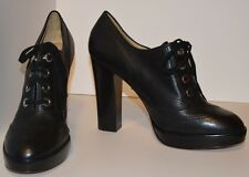 Coach Womens Black Leather Lace Up Lorel Oxford Bootie Sz 10B