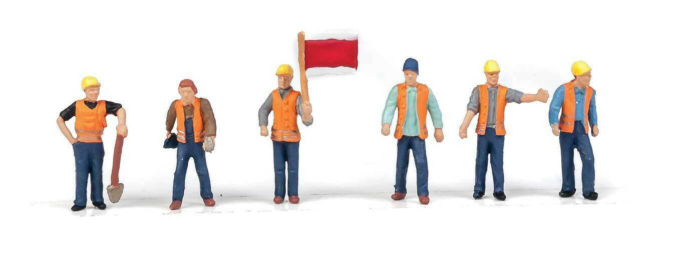 6 949-6067 WALTHERS SCENEMASTER HO SCALE 1//87 RAILROAD TRACK WORKERS FIGURES