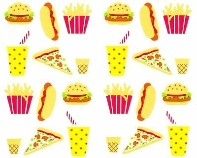 ~ Fast Food Burger Milkshake Soft Serve Pizza Fries Chip Mrs Grossman Stickers ~
