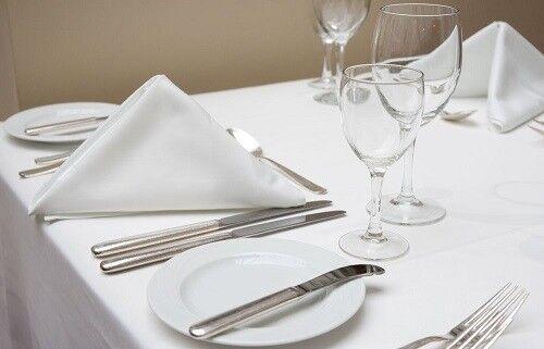 White 100/% Egyptian Cotton Damask Table Linen//Cloth Ivyleaf Design