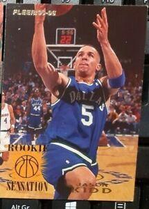 1 CARD PALLACANESTRO BASKET NBA FLEER 1995,96 ROOKIE JASON KIDD DALLAS MAVERICKS