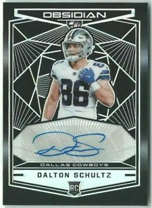 Dalton-Schultz-Cowboys-2018-Panini-Obsidian-Football-RC-Rookie-Auto-Card-26-100