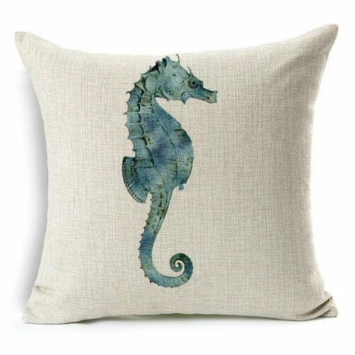 Cushion Ocean Sofa Case Marine Cover Pillow Creature Linen Animal Cotton Cover