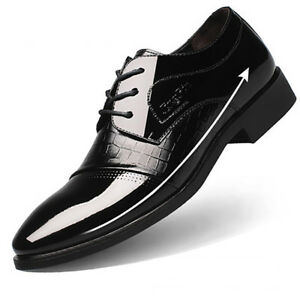 4a40f19da7c56e Image is loading XCL-Formal-Leather-Shoes-6cm-Taller-Height-Increasing-