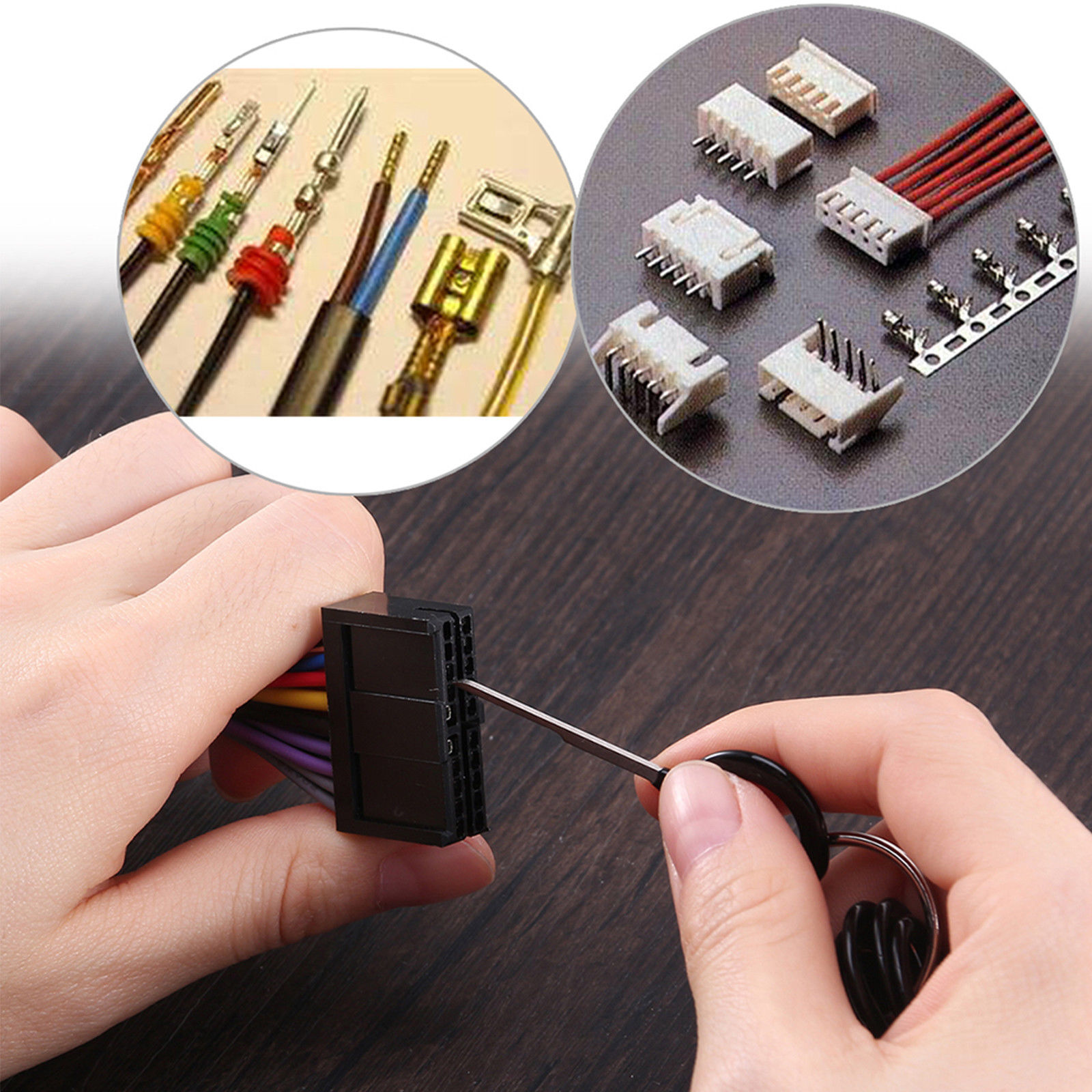 18x Car Wire Harness Plug Terminal Extraction Pick Connector Pin Removing Wires From Remove Tool Set