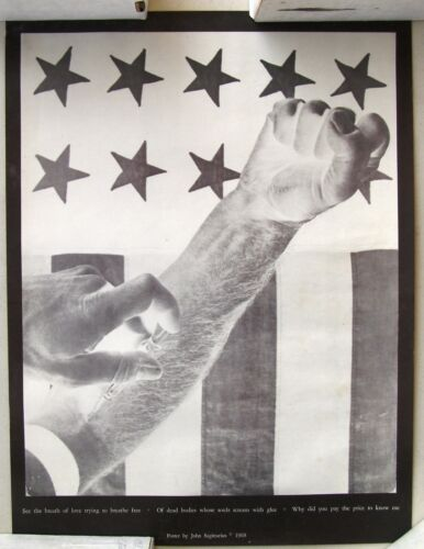 1968 Anti Heroin Poster by John Sagittarius, See the Breath of Love