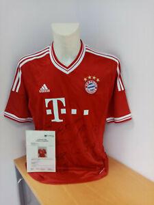 Il Bayern Monaco Maglia 2013/2014, team firmato, Calcio, Lega federale, Autografo, L