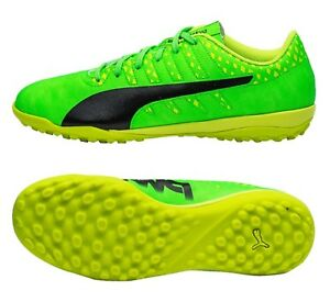 d2a3f07e2 PUMA Men evoPOWER Vigor 4 TT Futsal Cleats Soccer Green Shoes Spike ...