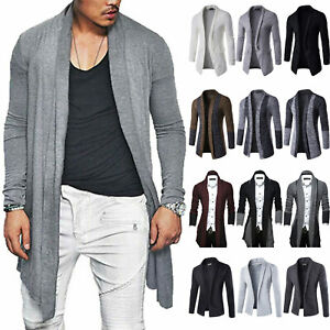Mens-Warm-Casual-Sweater-Slim-Long-Sleeve-Knit-Cardigan-Trench-Coat-Jacket-Suits