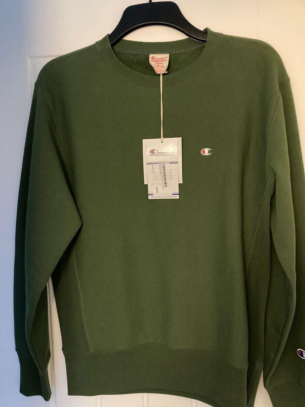 Champion Reverse Weave Sweatshirt Dark Green AW18