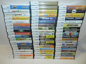 Nintendo-DS-Game-Case-amp-Manual-Booklet-Fun-You-Pick-amp-Choose-OEM-Pokemon-Mario
