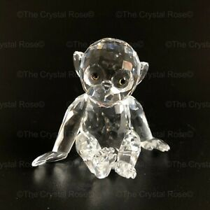 RARE-Retired-Swarovski-Crystal-Chimpanzee-Chimp-221625-Mint-Boxed-Monkey-Ape