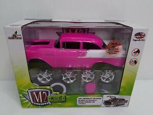 Rare-M2-Machines-2016-Auto-Experience-1957-Chevrolet-150-Sedan-Pink-1-Of-252