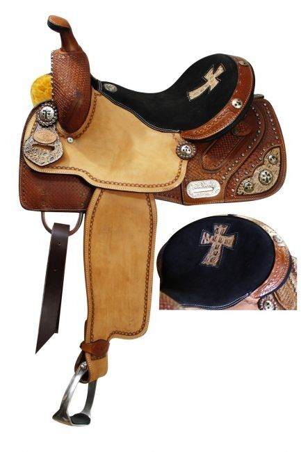 15  Double T Barrel  Saddle W  Basketweave Tooling and Alligator Print Cross Seat  most preferential