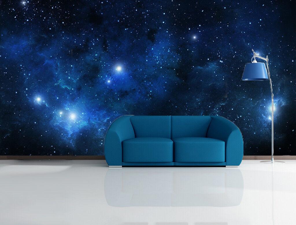 3D Night Sky Planet 9 Wallpaper Mural Paper Wall Print Wallpaper Murals UK Lemon