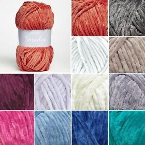 Sirdar-Smudge-Smooth-Chenille-Knit-Knitting-Yarn-100g-Ball