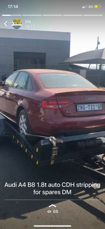 Audi A4 2.0tdi disel automatic stripping for parts