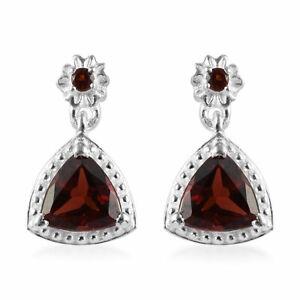 925-Sterling-Silver-Garnet-Dangle-Drop-Earrings-Jewelry-Gift-for-Women-Cttw-1-8