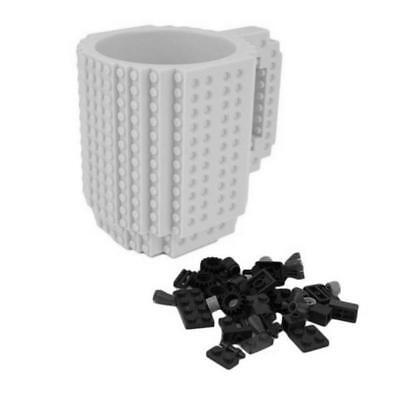 DIY Build-on Brick Puzzle Mug Cup Lego Block Kid Toy Coffee Tea Water Drink Gift