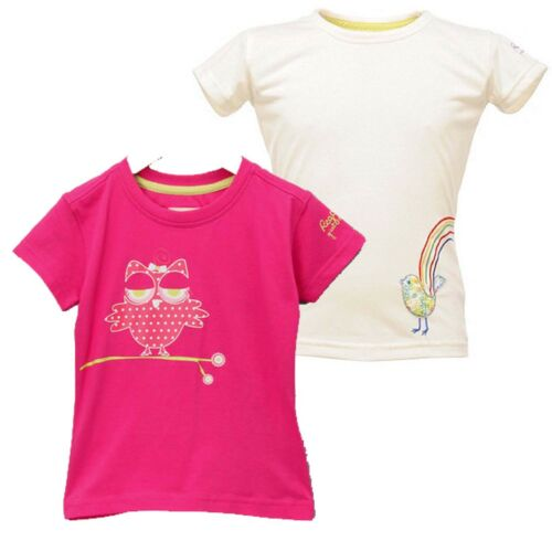 RRP £ 15 Regatta Honolulu Bambine Bambini Cotone Estate Design T Shirt