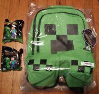 Minecraft Creeper Backpack, Plus 2 Surprise Hangers