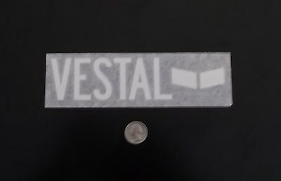 Vestal watches black die cut sticker Decal various sizes surf skate board snow