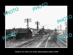 OLD-LARGE-HISTORIC-PHOTO-OF-GOSHEN-NEW-YORK-THE-RAILROAD-DEPOT-STATION-c1940