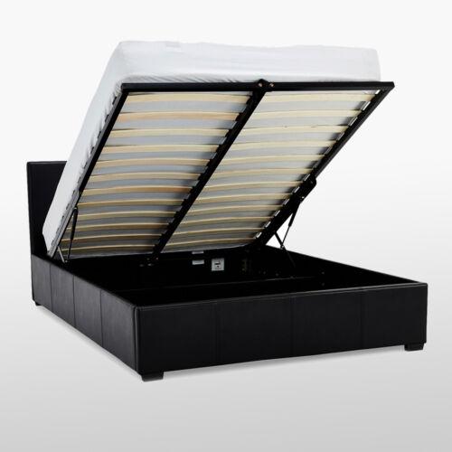 """Waverley double 4/' 6/"""" ottoman de lit en cuir synthétique chambre noir marron wow"""