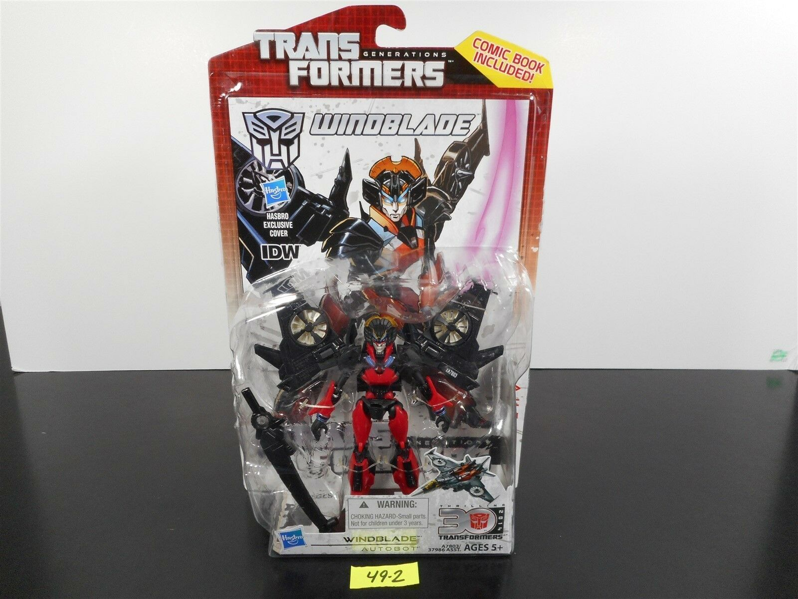 NEW & SEALED  TRANSFORMERS GENERATIONS IDW 30TH ANNIVERSARY DELUXE WINDBLADE 492