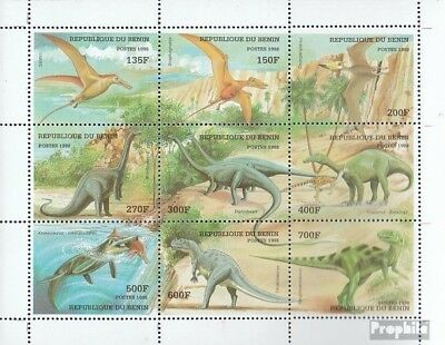 Stamps Nice Benin 1040-1048 Sheetlet Mint Never Hinged Mnh 1998 Prehistoric Animals