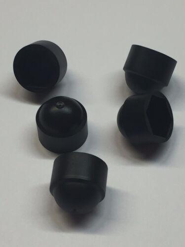 50 x M8 Écrou Boulon Dôme Noir bouchons de protection couvre exposés hex 13mm Clé
